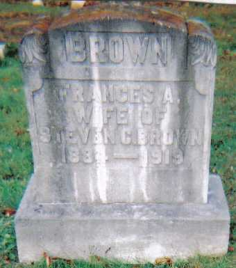BROWN, FRANCES A. - Scioto County, Ohio | FRANCES A. BROWN - Ohio Gravestone Photos
