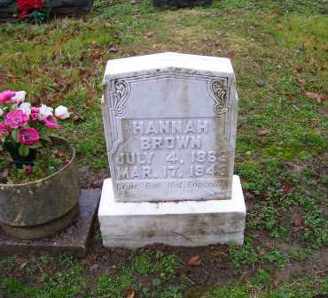 BROWN, HANNAH - Scioto County, Ohio | HANNAH BROWN - Ohio Gravestone Photos