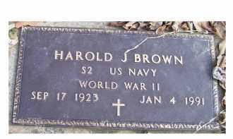 BROWN, HAROLD J. - Scioto County, Ohio | HAROLD J. BROWN - Ohio Gravestone Photos