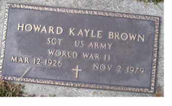 BROWN, HOWARD KAYLE - Scioto County, Ohio | HOWARD KAYLE BROWN - Ohio Gravestone Photos