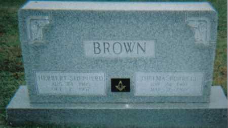 BURRELL BROWN, THELMA - Scioto County, Ohio   THELMA BURRELL BROWN - Ohio Gravestone Photos