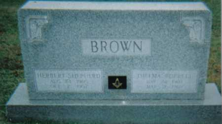 BURRELL BROWN, THELMA - Scioto County, Ohio | THELMA BURRELL BROWN - Ohio Gravestone Photos