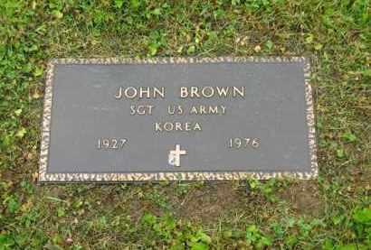 BROWN, JOHN - Scioto County, Ohio   JOHN BROWN - Ohio Gravestone Photos