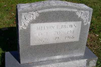 BROWN, MELVIN E. - Scioto County, Ohio | MELVIN E. BROWN - Ohio Gravestone Photos