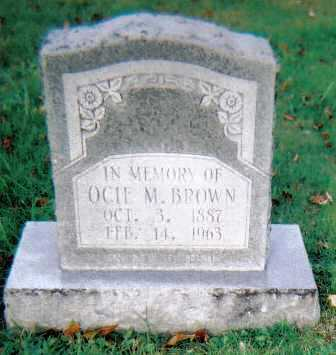 BROWN, OCIE M. - Scioto County, Ohio | OCIE M. BROWN - Ohio Gravestone Photos