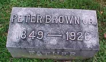 BROWN, PETER JR. - Scioto County, Ohio | PETER JR. BROWN - Ohio Gravestone Photos