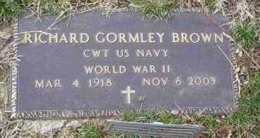 BROWN, RICHARD GORMLEY - Scioto County, Ohio | RICHARD GORMLEY BROWN - Ohio Gravestone Photos