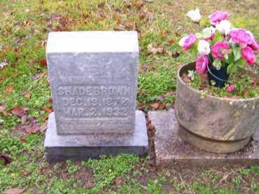 BROWN, SHADE - Scioto County, Ohio | SHADE BROWN - Ohio Gravestone Photos