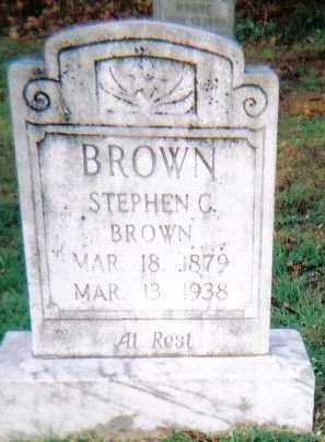 BROWN, STEPHEN C. - Scioto County, Ohio   STEPHEN C. BROWN - Ohio Gravestone Photos