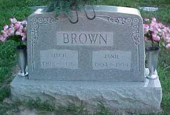 BROWN, JANIE - Scioto County, Ohio | JANIE BROWN - Ohio Gravestone Photos