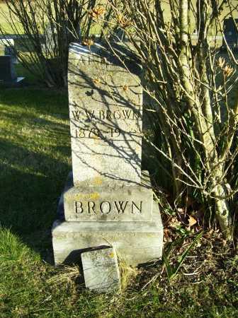 BROWN, W. W. - Scioto County, Ohio | W. W. BROWN - Ohio Gravestone Photos