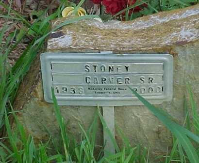 CARVER, STONEY SR. - Scioto County, Ohio   STONEY SR. CARVER - Ohio Gravestone Photos