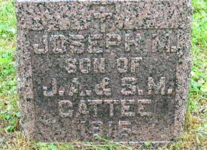 CATTEE, J. A. - Scioto County, Ohio | J. A. CATTEE - Ohio Gravestone Photos