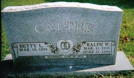 CATTEE, RALPH W. - Scioto County, Ohio | RALPH W. CATTEE - Ohio Gravestone Photos