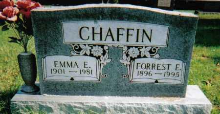 CHAFFIN, FORREST E. - Scioto County, Ohio | FORREST E. CHAFFIN - Ohio Gravestone Photos