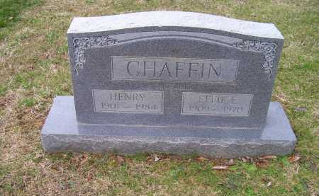 CHAFFIN, EFFIE E. - Scioto County, Ohio | EFFIE E. CHAFFIN - Ohio Gravestone Photos