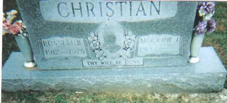CHRISTIAN, RUSSELL  B. - Scioto County, Ohio   RUSSELL  B. CHRISTIAN - Ohio Gravestone Photos
