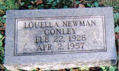NEWMAN CONLEY, LOUELLA - Scioto County, Ohio   LOUELLA NEWMAN CONLEY - Ohio Gravestone Photos