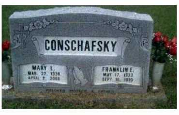 CONSCHAFSKY, FRANKLIN E. - Scioto County, Ohio | FRANKLIN E. CONSCHAFSKY - Ohio Gravestone Photos
