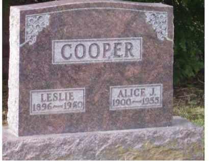 COOPER, LESLIE - Scioto County, Ohio | LESLIE COOPER - Ohio Gravestone Photos