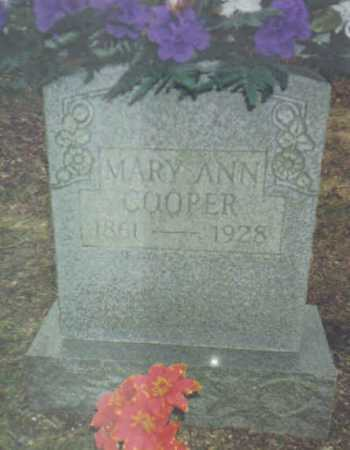 COOPER, MARY ANN - Scioto County, Ohio | MARY ANN COOPER - Ohio Gravestone Photos