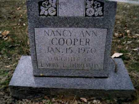 COOPER, NANCY ANN - Scioto County, Ohio | NANCY ANN COOPER - Ohio Gravestone Photos