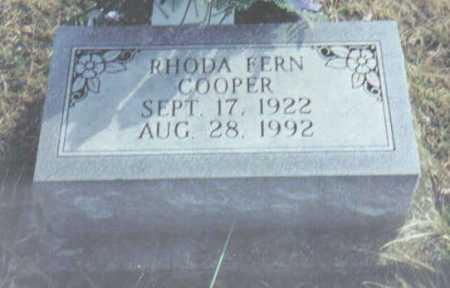 COOPER, RHODA FERN - Scioto County, Ohio   RHODA FERN COOPER - Ohio Gravestone Photos