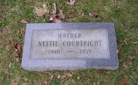 COURTRIGHT, NETTIE - Scioto County, Ohio | NETTIE COURTRIGHT - Ohio Gravestone Photos