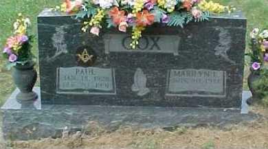 COX, PAUL - Scioto County, Ohio | PAUL COX - Ohio Gravestone Photos