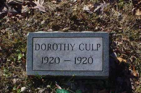 CULP, DOROTHY - Scioto County, Ohio   DOROTHY CULP - Ohio Gravestone Photos