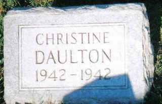 DAULTON, CHRISTINE - Scioto County, Ohio   CHRISTINE DAULTON - Ohio Gravestone Photos