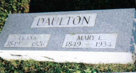 DAULTON, MARY E. - Scioto County, Ohio | MARY E. DAULTON - Ohio Gravestone Photos