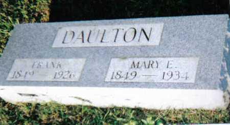 DAULTON, MARY E. - Scioto County, Ohio   MARY E. DAULTON - Ohio Gravestone Photos