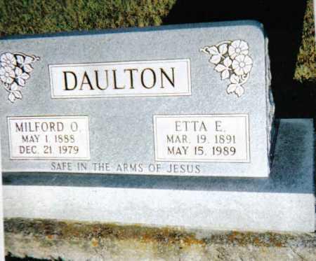 DAULTON, MILFORD O. - Scioto County, Ohio | MILFORD O. DAULTON - Ohio Gravestone Photos