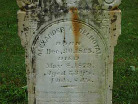 DELHOTAL, ALEXANDER A. - Scioto County, Ohio   ALEXANDER A. DELHOTAL - Ohio Gravestone Photos