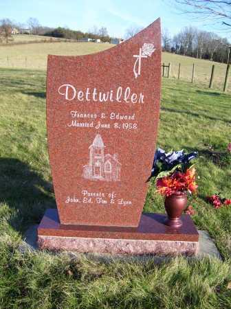 DETTWILLER, FRANCES - Scioto County, Ohio | FRANCES DETTWILLER - Ohio Gravestone Photos