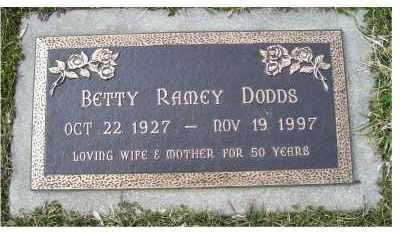 DODDS, BETTY RAMEY - Scioto County, Ohio   BETTY RAMEY DODDS - Ohio Gravestone Photos