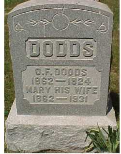 DODDS, MARY - Scioto County, Ohio | MARY DODDS - Ohio Gravestone Photos
