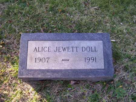 JEWETT DOLL, ALICE - Scioto County, Ohio | ALICE JEWETT DOLL - Ohio Gravestone Photos
