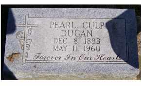 CULP DUGAN, PEARL - Scioto County, Ohio | PEARL CULP DUGAN - Ohio Gravestone Photos