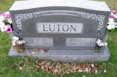 EUTON, JOHNIE M. - Scioto County, Ohio | JOHNIE M. EUTON - Ohio Gravestone Photos