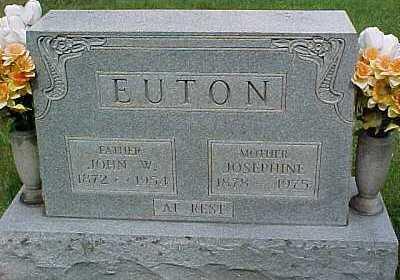 EUTON, JOHN W. - Scioto County, Ohio | JOHN W. EUTON - Ohio Gravestone Photos