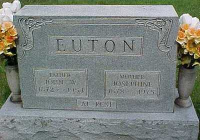 EUTON, JOSEPHINE - Scioto County, Ohio | JOSEPHINE EUTON - Ohio Gravestone Photos