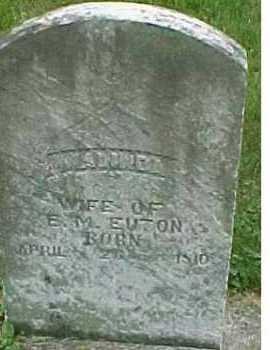 EUTON, MALINDA - Scioto County, Ohio | MALINDA EUTON - Ohio Gravestone Photos