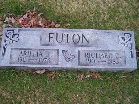 EUTON, RICHARD O. - Scioto County, Ohio   RICHARD O. EUTON - Ohio Gravestone Photos