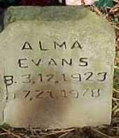 EVANS, ALMA - Scioto County, Ohio   ALMA EVANS - Ohio Gravestone Photos