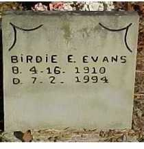 EVANS, BIRDIE E. - Scioto County, Ohio | BIRDIE E. EVANS - Ohio Gravestone Photos
