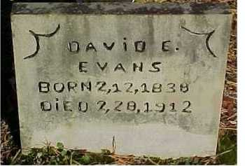 EVANS, DAVID E. - Scioto County, Ohio | DAVID E. EVANS - Ohio Gravestone Photos