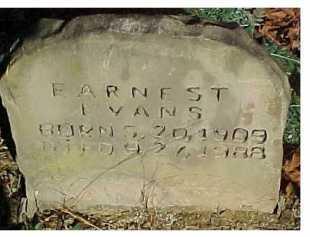 EVANS, EARNEST - Scioto County, Ohio   EARNEST EVANS - Ohio Gravestone Photos