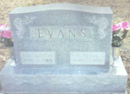 EVANS, E. CLYDE - Scioto County, Ohio | E. CLYDE EVANS - Ohio Gravestone Photos